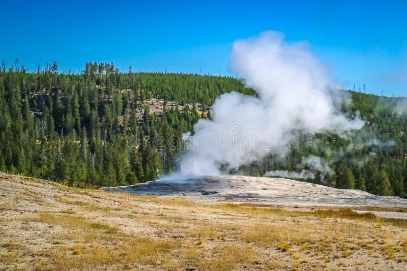 A área de Mammoth Hot Springs no parque nacional de Yellowstone, Wyoming imagem de stock