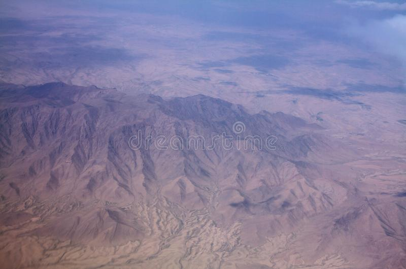 Área de montanha e opinião da paisagem em Kandahar, Afeganistão foto de stock