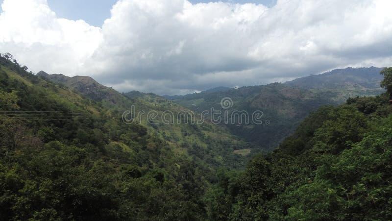 Área de montanha em Sri Lanka imagens de stock royalty free