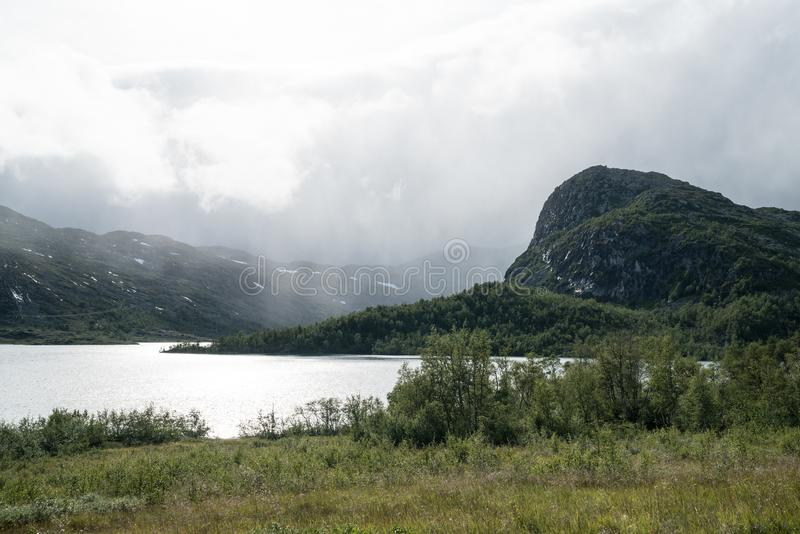 Área de montanha perto de Geilo foto de stock