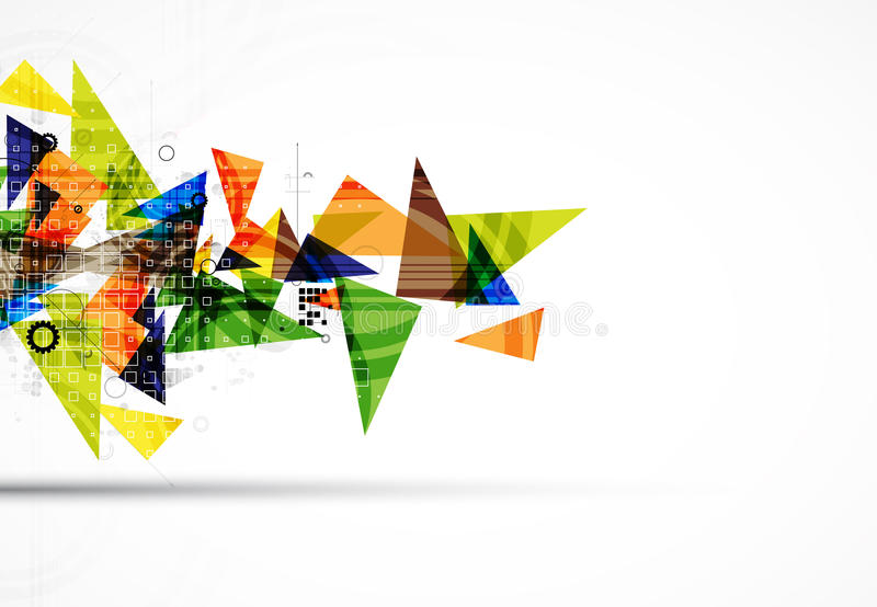 Área de negócio abstrata da informática digital do triângulo ilustração royalty free