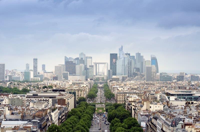 Área de negócio da defesa do La em Paris foto de stock royalty free