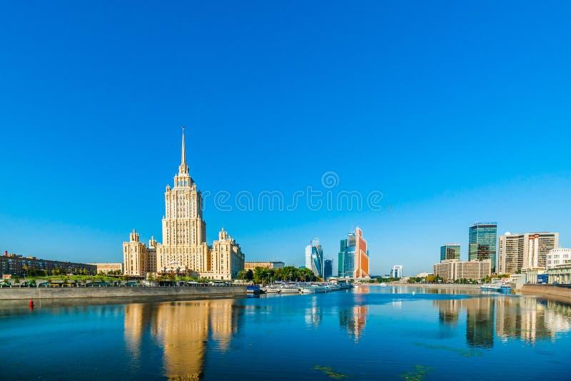 Área de negócio de Moscou fotografia de stock royalty free