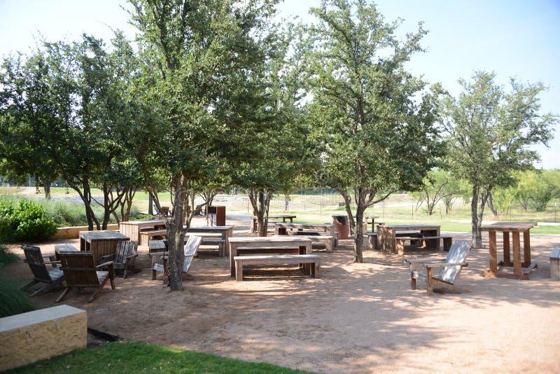 Área de piquenique de Trailhead, Fort Worth Texas foto de stock