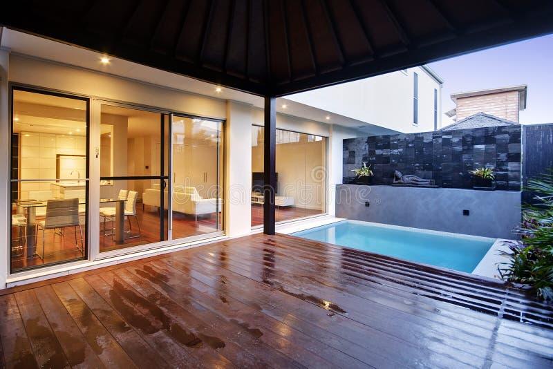 Área de piscina fotografía de archivo