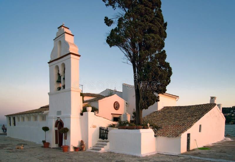 Área de Pontikonisi en la isla de Corfú, Grecia fotos de archivo libres de regalías