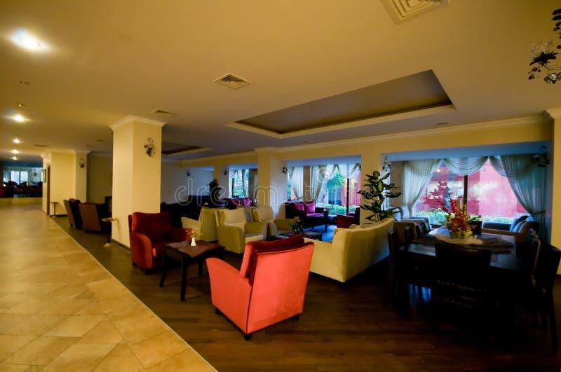 Área de recepção da entrada do hotel fotos de stock royalty free