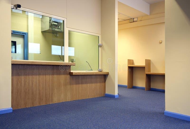 Área de recepção do escritório foto de stock