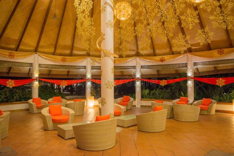 Área de recepção no hotel foto de stock