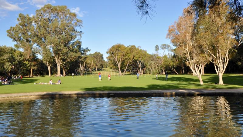 Área de recreação do Parkland da sinergia: O Parque do rei, Perth imagem de stock royalty free