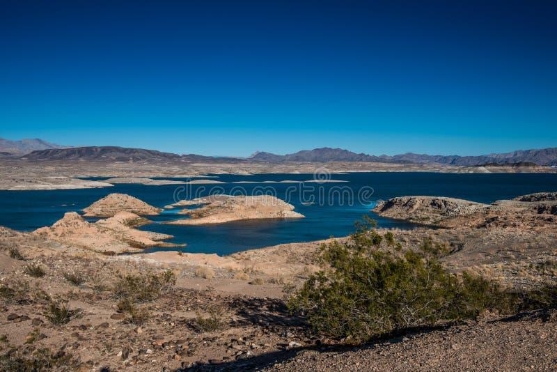 Área de recreação nacional do hidromel do lago fotografia de stock