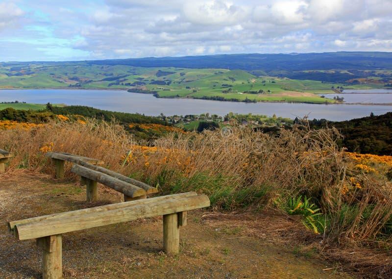Área de repouso ao longo das estradas de Nova Zelândia foto de stock royalty free