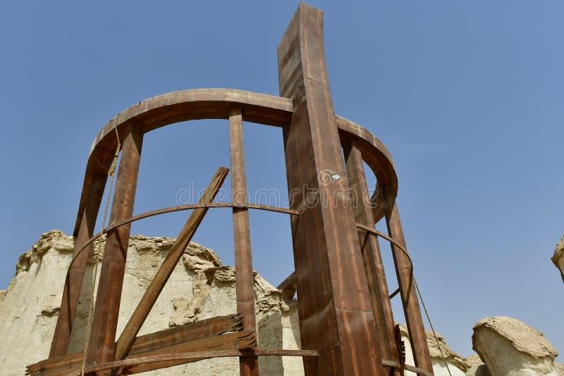 Área de resort de montanha de Al Qarah do lugar do turista, na terra da civilização imagens de stock royalty free