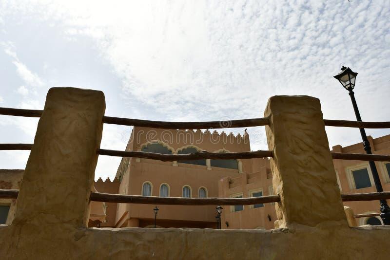 Área de resort de montanha de Al Qarah, na terra da civilização foto de stock royalty free