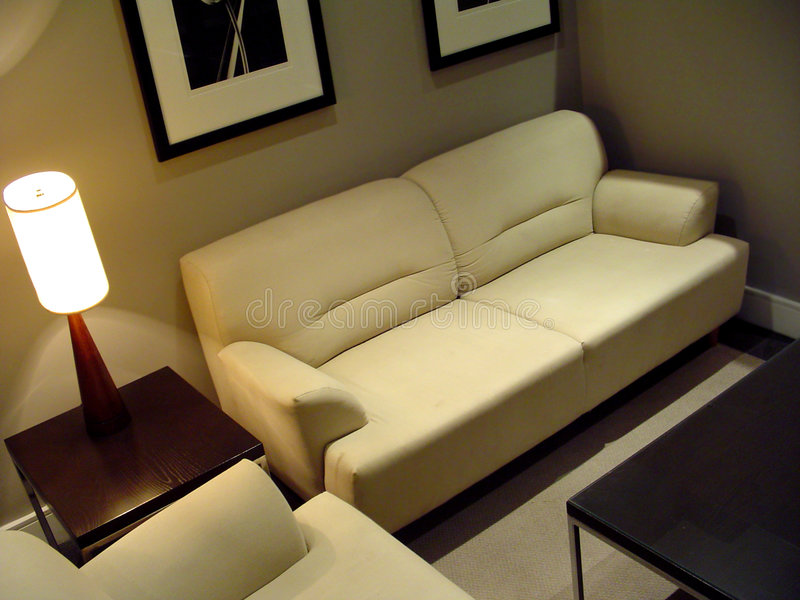 Área de sentada acogedora fotografía de archivo libre de regalías