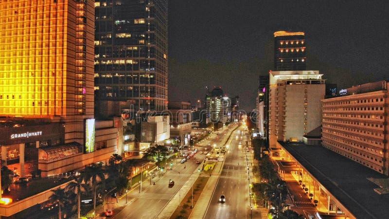 Área de Thamrin, Jakarta central, Indonésia foto de stock