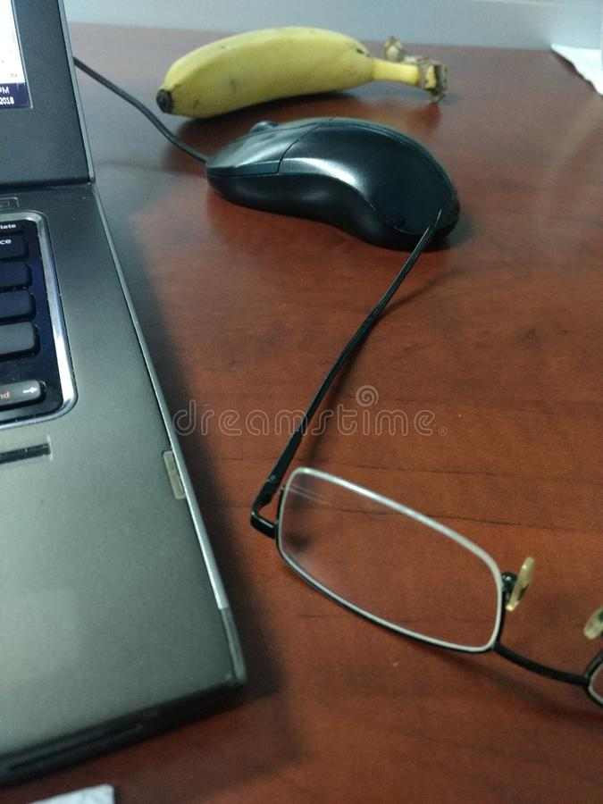 Área de trabajo con el ratón foto de archivo libre de regalías