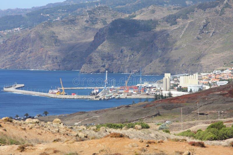 Área del agua del ciudad-puerto Canical fotografía de archivo libre de regalías