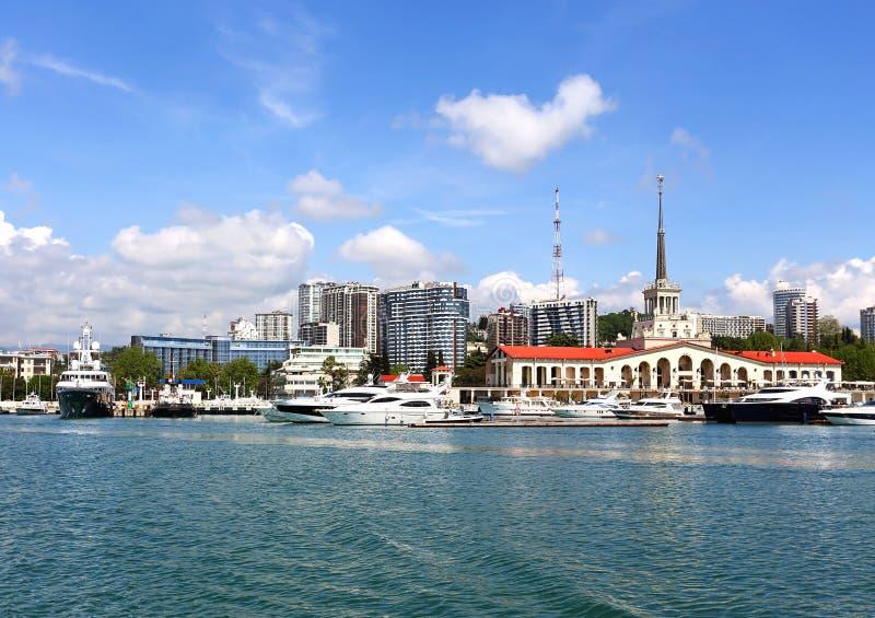 Área del agua del puerto del pasajero del mar fotografía de archivo libre de regalías
