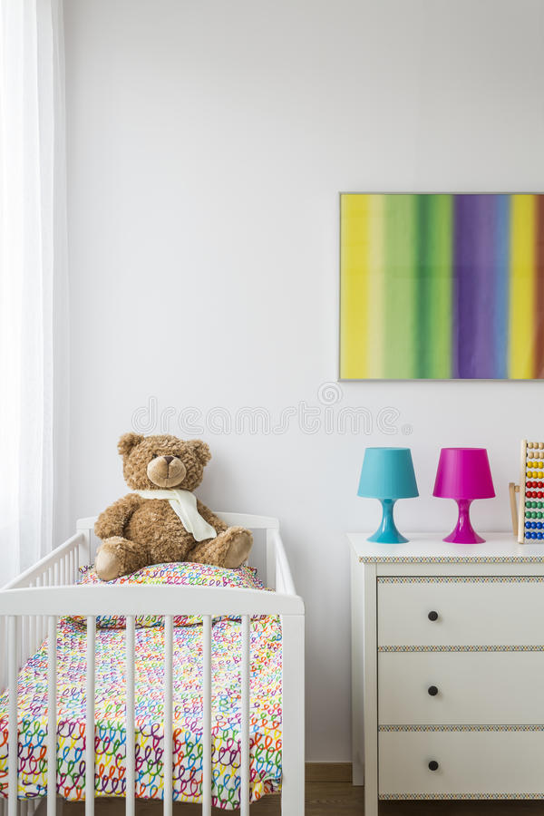 Área del baby& x27; sueños dulces de s fotografía de archivo