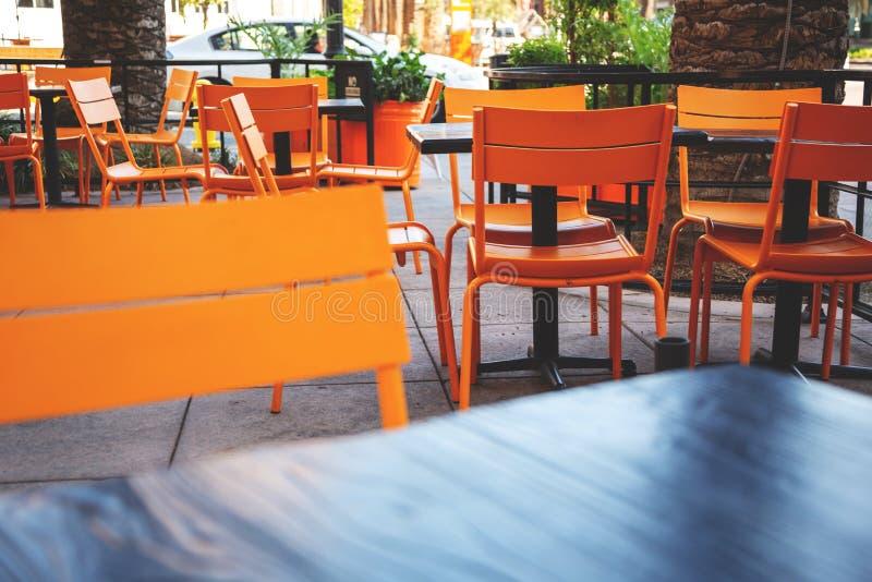 Área del patio del restaurante imágenes de archivo libres de regalías