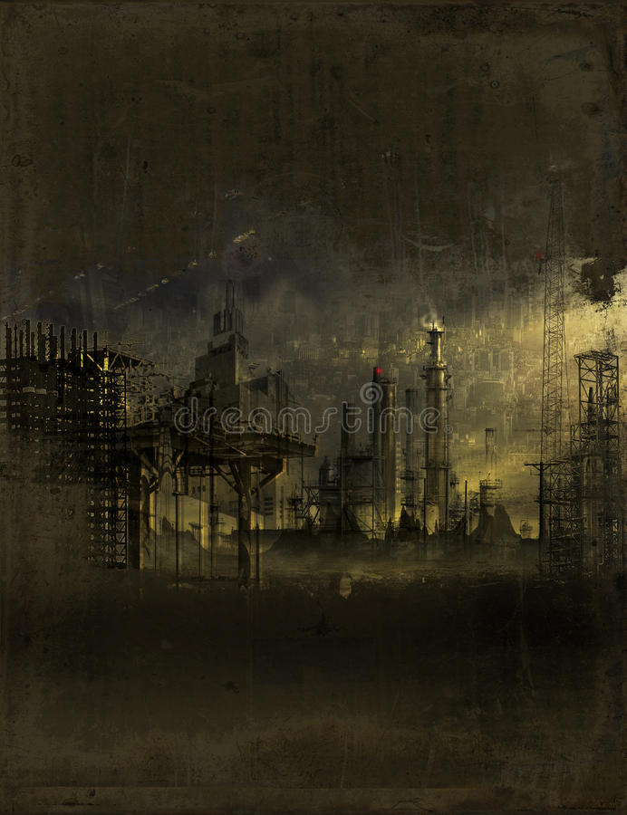 Área deserta industrial imagem de stock