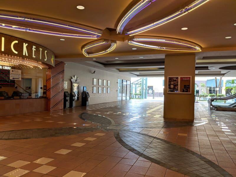 Área do Bilhete do Cinéter Regal Dole Cannery IMAX & RPX imagem de stock