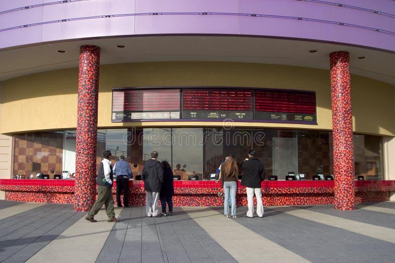 Área do bilhete de teatro imagem de stock