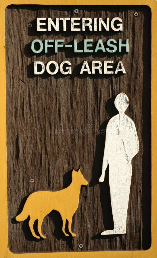 área do cão da Fora-trela foto de stock royalty free
