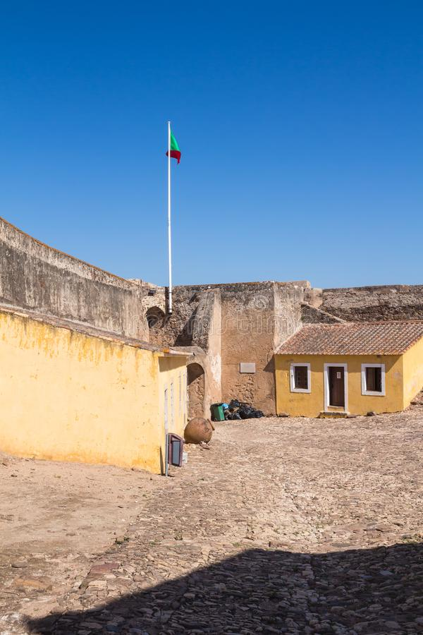 Área do castelo Castro Marim, Portugal imagem de stock