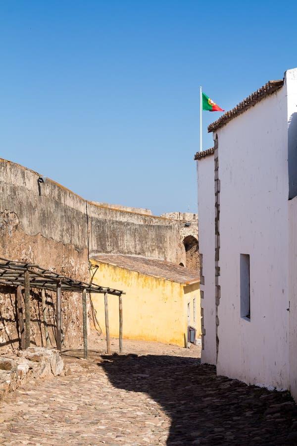 Área do castelo Castro Marim, Portugal foto de stock royalty free