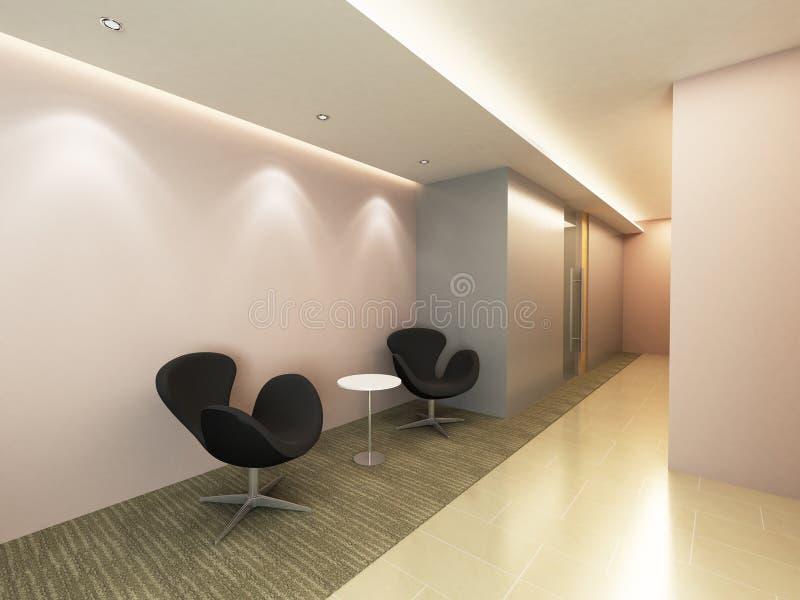 Área do corredor do escritório ilustração stock