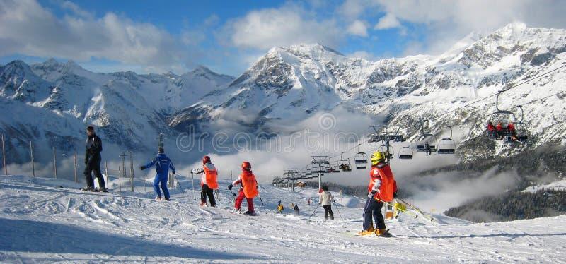 A área do esqui imagem de stock royalty free