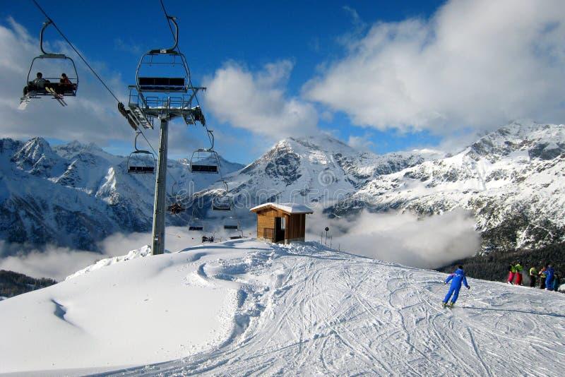 A área do esqui imagens de stock royalty free
