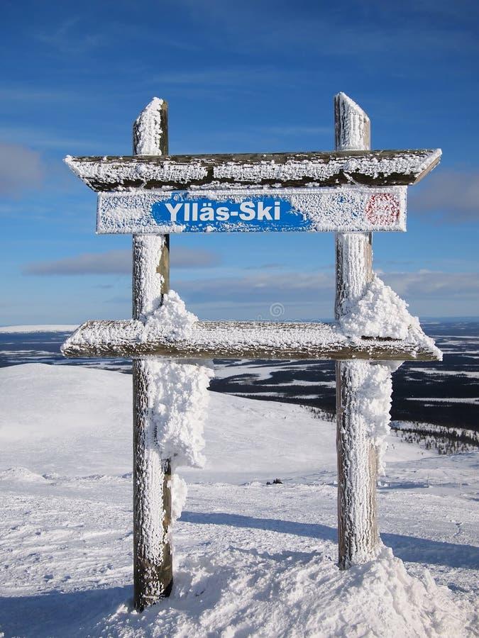 Área do esqui de Ylläs fotografia de stock royalty free