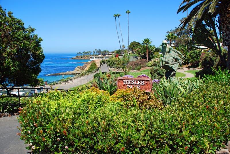 Área do norte do parque de Heisler, Laguna Beach, CA foto de stock