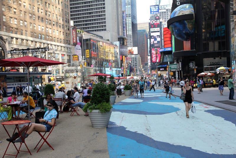 Área do pedestre do Times Square foto de stock