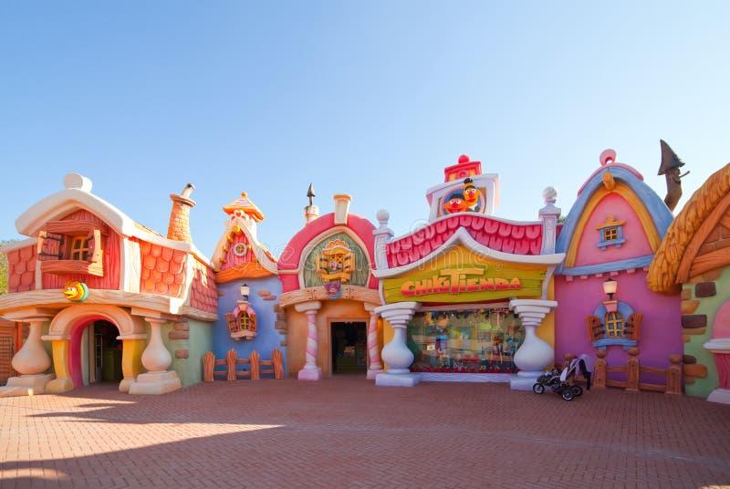 Área do Sesame Street no parque temático portuário de Aventura imagem de stock royalty free