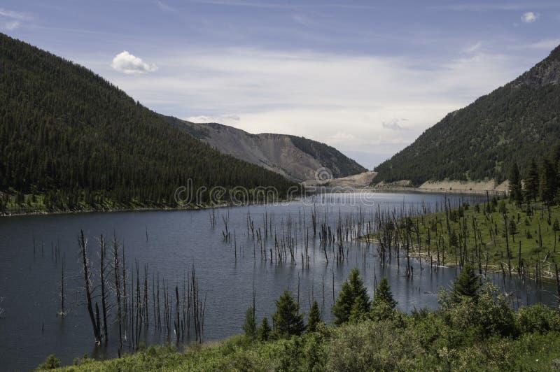 Área do terremoto de Madison River Canyon em Montana fotos de stock