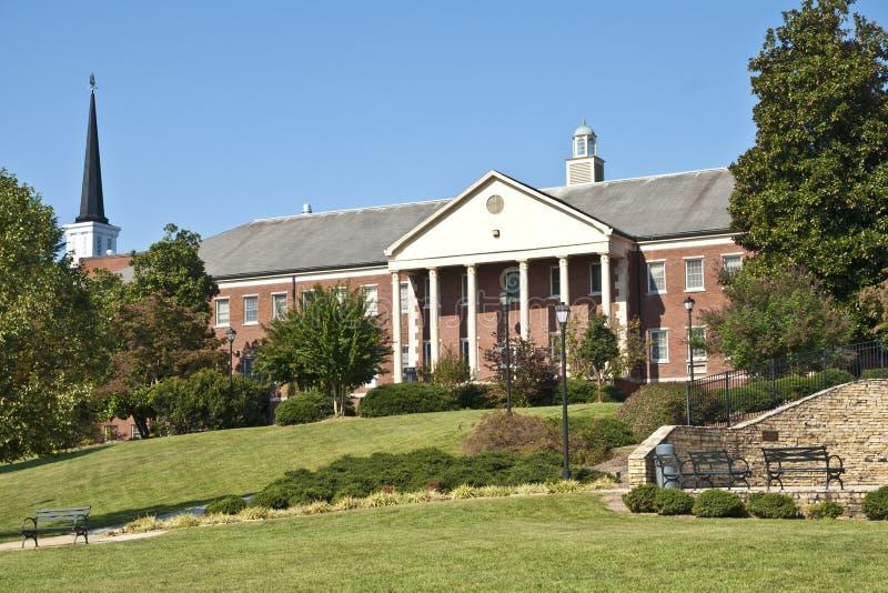 Área do terreno da faculdade imagens de stock