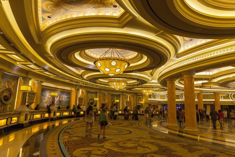 Área en Las Vegas, nanovoltio del incorporar del Caesars Palace el 26 de junio de 2013 fotografía de archivo