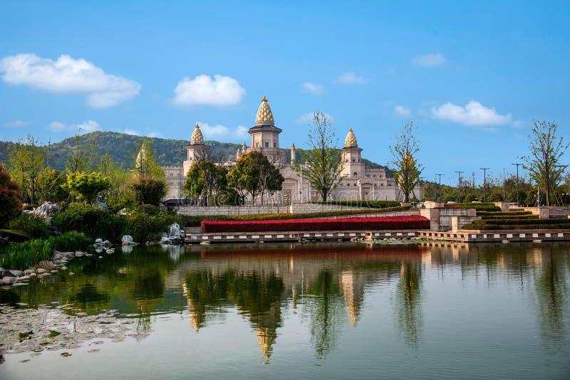 Área escénica cinco Yin Tan City de Buda del gigante de Wuxi Lingshan fotos de archivo
