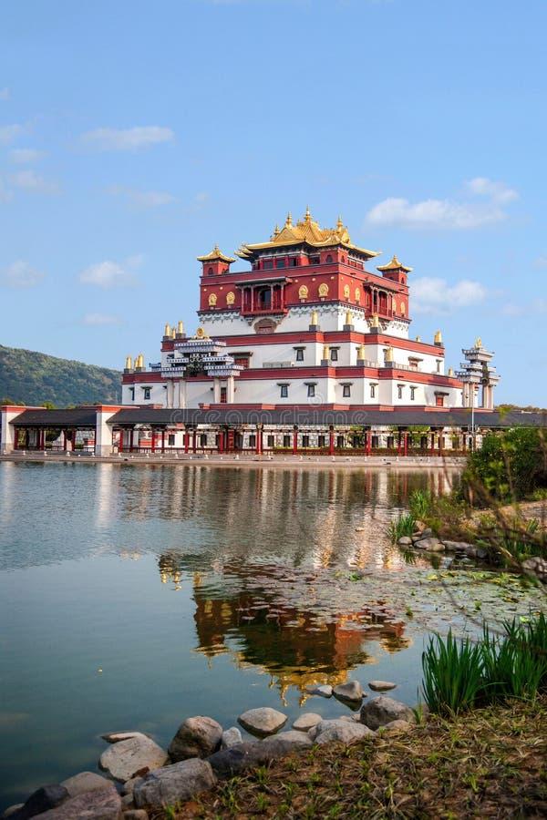 Área escénica cinco Yin Tan City de Buda del gigante de Wuxi Lingshan imagen de archivo