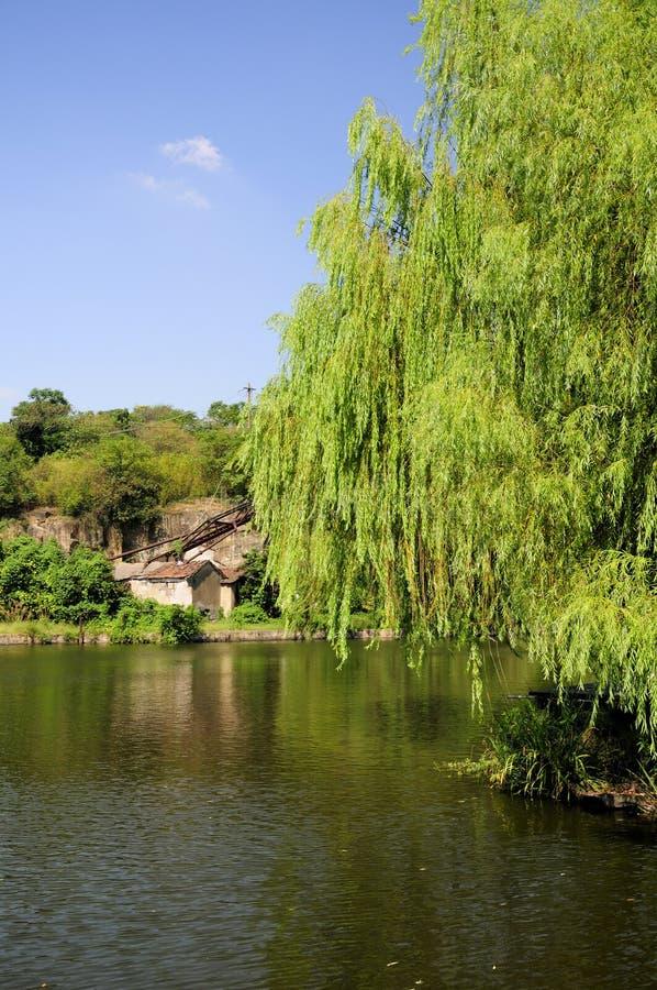 Área escénica del este de Shaoxing China del lago fotografía de archivo