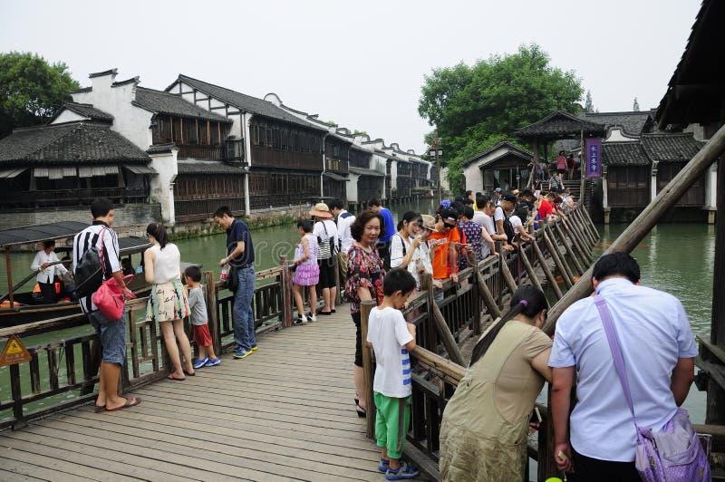 Área escénica del oeste China de Wuzhen fotografía de archivo libre de regalías
