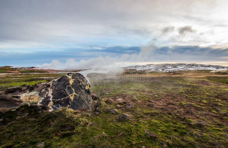 Área geotérmica imagen de archivo libre de regalías