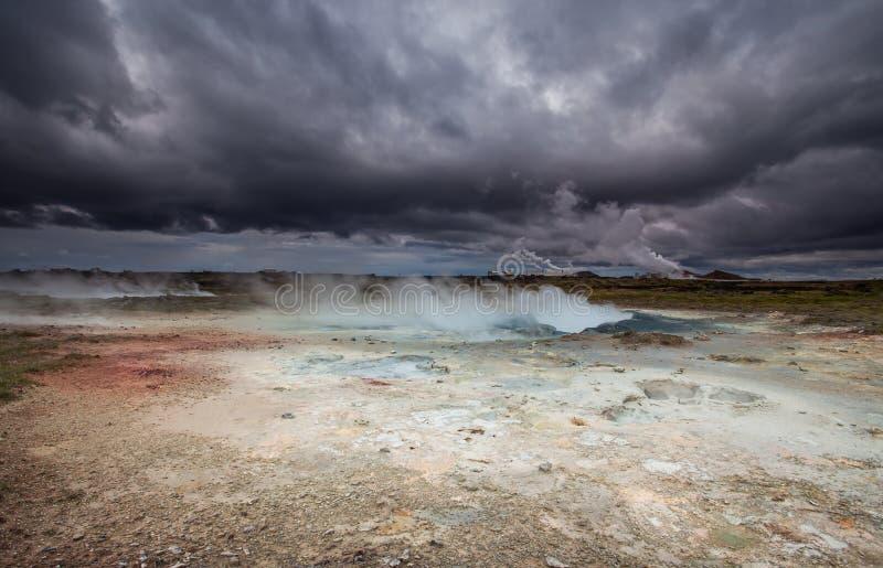 Área geotérmica fotos de archivo