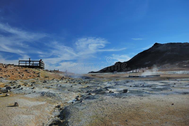 Área geotérmica imagen de archivo