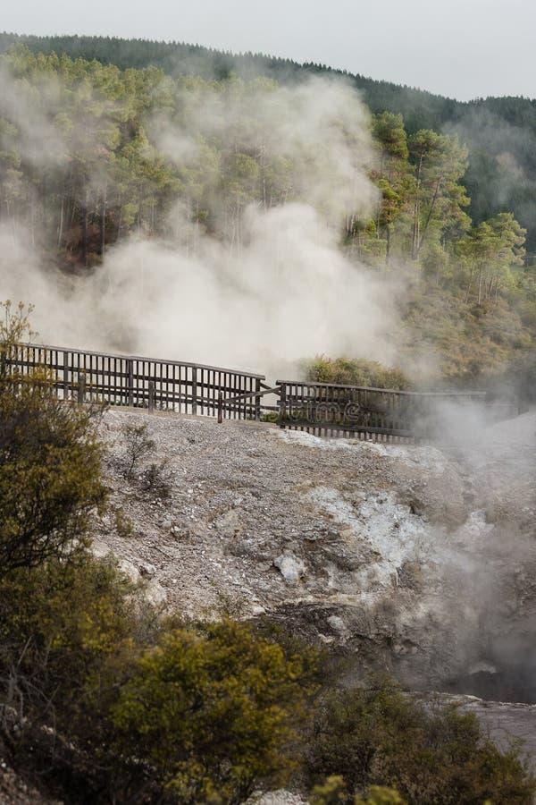 Área geotérmica de Waiotapu imagens de stock