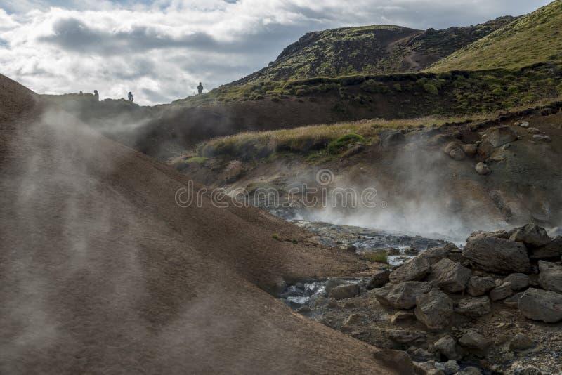 Área geotérmica en Islandia imagen de archivo libre de regalías